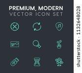modern  simple vector icon set... | Shutterstock .eps vector #1132648028