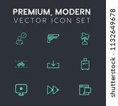 modern  simple vector icon set... | Shutterstock .eps vector #1132649678
