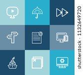 modern  simple vector icon set... | Shutterstock .eps vector #1132649720