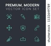 modern  simple vector icon set... | Shutterstock .eps vector #1132649789