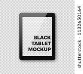 realistic tablet mockup on... | Shutterstock . vector #1132650164