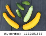 summer squashes and cucumbers... | Shutterstock . vector #1132651586