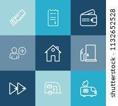 modern  simple vector icon set... | Shutterstock .eps vector #1132652528