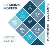 modern  simple vector icon set...   Shutterstock .eps vector #1132652549