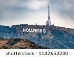 the hollywood sign | Shutterstock . vector #1132653230