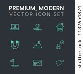 modern  simple vector icon set... | Shutterstock .eps vector #1132654874