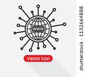 www icon  website symbol vector ... | Shutterstock .eps vector #1132664888