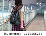asian teenage girl carrying a...   Shutterstock . vector #1132666286