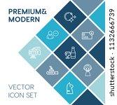 modern  simple vector icon set...   Shutterstock .eps vector #1132666739