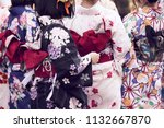 young girl wearing japanese...   Shutterstock . vector #1132667870