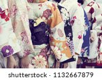 young girl wearing japanese...   Shutterstock . vector #1132667879