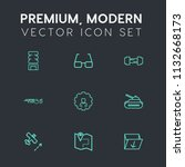 modern  simple vector icon set... | Shutterstock .eps vector #1132668173