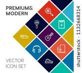 modern  simple vector icon set... | Shutterstock .eps vector #1132668314