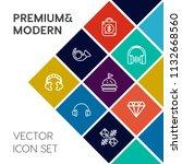 modern  simple vector icon set... | Shutterstock .eps vector #1132668560