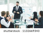senior manager of the company...   Shutterstock . vector #1132669343
