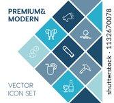 modern  simple vector icon set... | Shutterstock .eps vector #1132670078