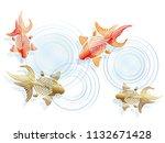 goldfishes in the japanese... | Shutterstock .eps vector #1132671428