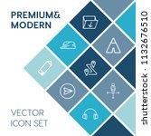 modern  simple vector icon set... | Shutterstock .eps vector #1132676510