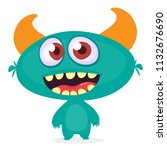 funny cartoon alien. vector... | Shutterstock .eps vector #1132676690