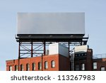 a large blank urban billboard... | Shutterstock . vector #113267983