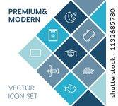 modern  simple vector icon set...   Shutterstock .eps vector #1132685780
