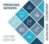 modern  simple vector icon set... | Shutterstock .eps vector #1132685804