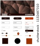 dark orange vector style guide...