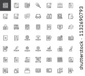 literature books outline icons... | Shutterstock .eps vector #1132690793