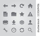 toolbar icons   deboss style | Shutterstock .eps vector #113269456