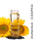 sunflower seeds and vegetable... | Shutterstock . vector #113269516