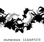 seamless border with...   Shutterstock .eps vector #1132697273