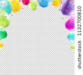 color congrats card with... | Shutterstock .eps vector #1132700810