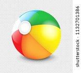 beach ball isolated transparent ... | Shutterstock .eps vector #1132701386