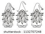 vector   gnomes cartoons  black ... | Shutterstock .eps vector #1132707248