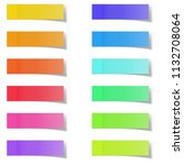 blank color memo note stickers... | Shutterstock .eps vector #1132708064