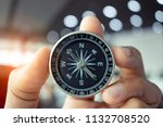 holding compass on tree... | Shutterstock . vector #1132708520
