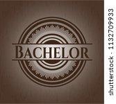bachelor wood emblem. retro   Shutterstock .eps vector #1132709933