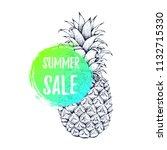 summer sale banner advertising. ... | Shutterstock .eps vector #1132715330