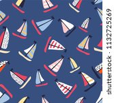 seamless vector pattern with... | Shutterstock .eps vector #1132725269