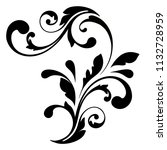 decorative design elements.... | Shutterstock .eps vector #1132728959