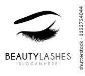 lash logo  luxury beauty eye...   Shutterstock .eps vector #1132734044
