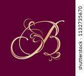 ornamental letter b logo...