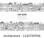 Hand Drawn European City House...
