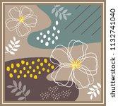 classy scarf pattern design | Shutterstock .eps vector #1132741040