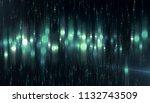 abstract neon bokeh circles on... | Shutterstock . vector #1132743509