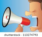 shouting using a megaphone | Shutterstock . vector #113274793