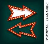 light billboard with arrow.... | Shutterstock .eps vector #1132758080