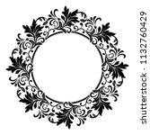 decorative frame elegant vector ... | Shutterstock .eps vector #1132760429