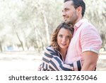 man and woman posing in the... | Shutterstock . vector #1132765046