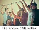 smell of sweat. sweaty armpits. ... | Shutterstock . vector #1132767026
